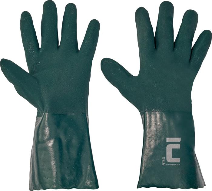 Manusi de protectie chimica Cerva PETREL , impregnate in PVC, 35 cm [0]