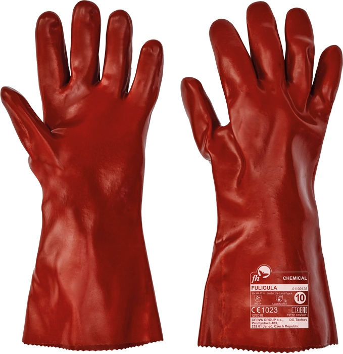 Manusi de protectie chimica FH FULIGULA, PVC, 35 cm 0
