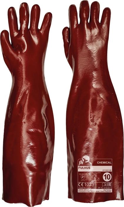 Manusi de protectie chimica FH FULVUS, PVC, 60 cm [0]