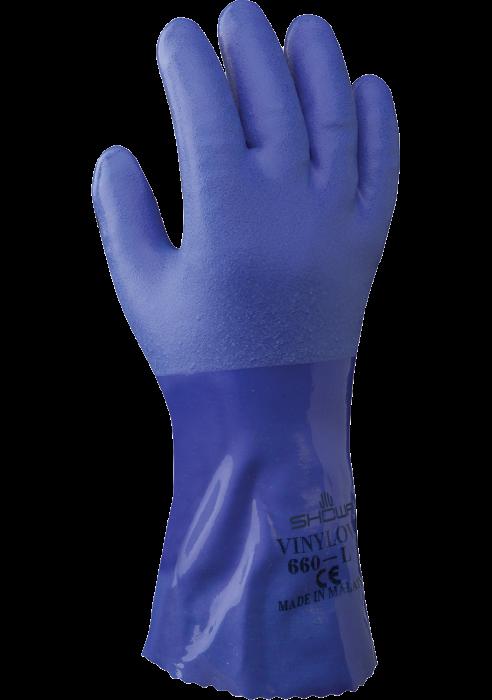 Manusi de protectie chimica Showa 660PVC, PVC 0