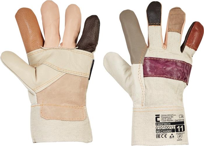 Manusi de protectie de iarna Cerva FIREFINCH, piele bovina [0]