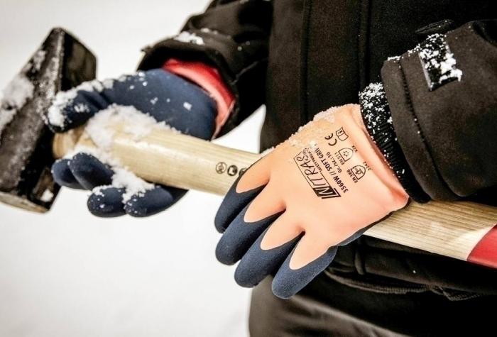 Manusi de protectie de iarna Nitras  SOFT GRIP W, latex 1