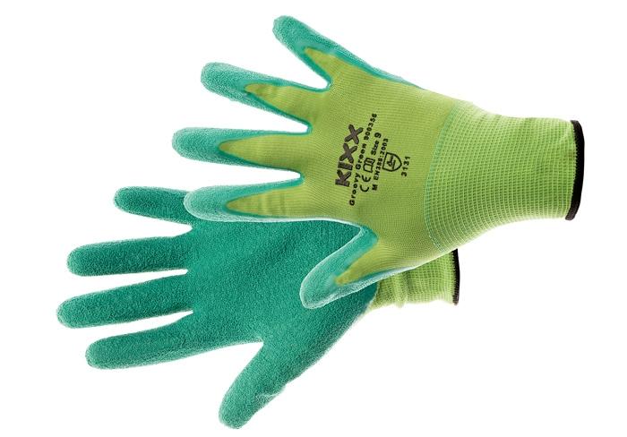 Manusi de protectie Kixx GROOVY GREEN, impregnate in latex [0]