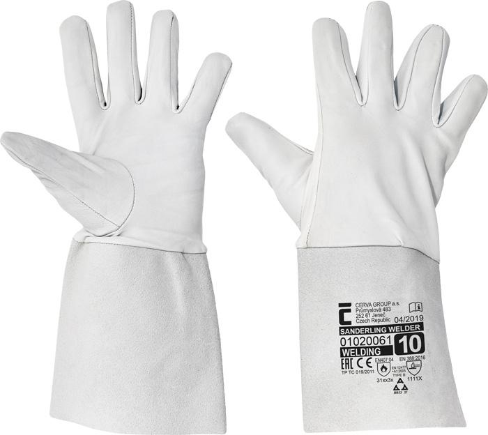 Manusi de protectie sudura Cerva SANDERLING WELDER, piele capra, 15 cm [0]