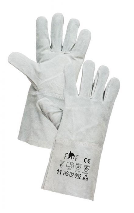 Manusi de protectie sudura Fridrich FF MERLIN LIGHT HS-02-002, piele bovina,15 cm [0]