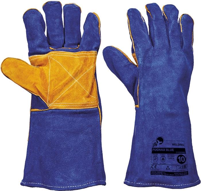 Manusi de protectie sudura PUGNAX BLUE, piele bovina, 35 cm, ata kevlar 0