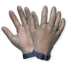 Manusi de protectie taiere din zale de inox, 24 cm [0]