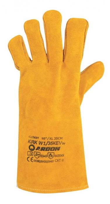 Manusi de protectie sudura Ardon KIRK, piele spalt bovina, ata kevlar, 35cm 1