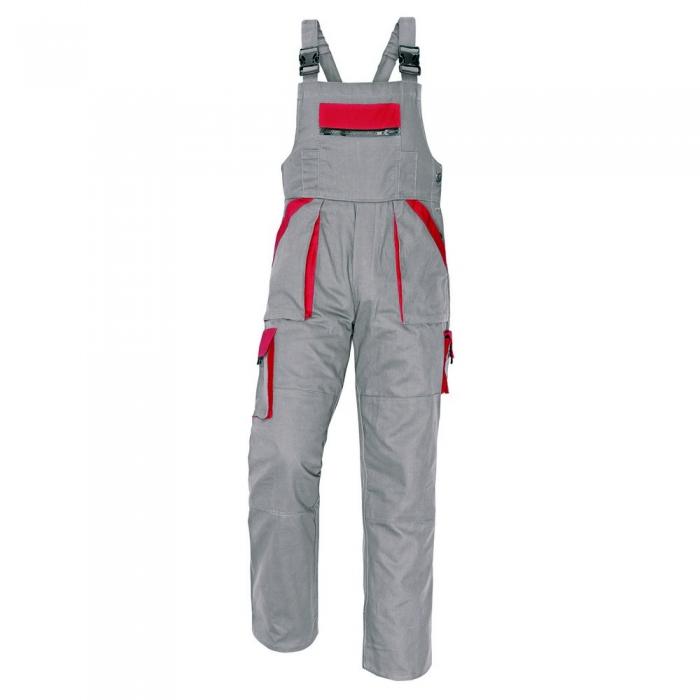 Pantaloni salopeta cu pieptar Cerva MAX, 100% bumbac, 260gr/mp 0