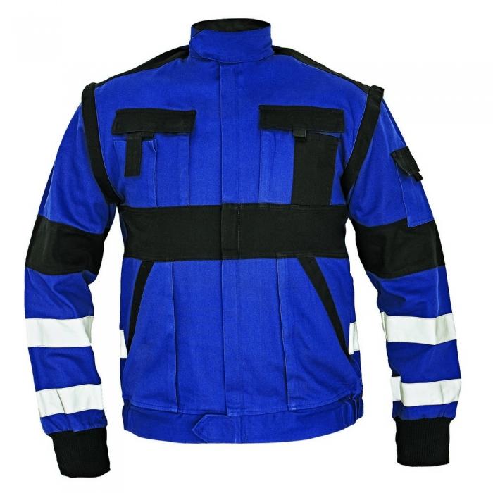 Jacheta de lucru cu benzi reflectorizante Cerva MAX REFLEX, 100% bumbac, 260 gr/mp 0