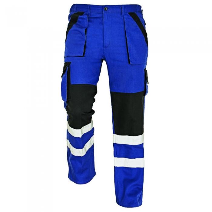MAX REFLEX | pantaloni de lucru din bumbac cu benzi reflectorizante 0