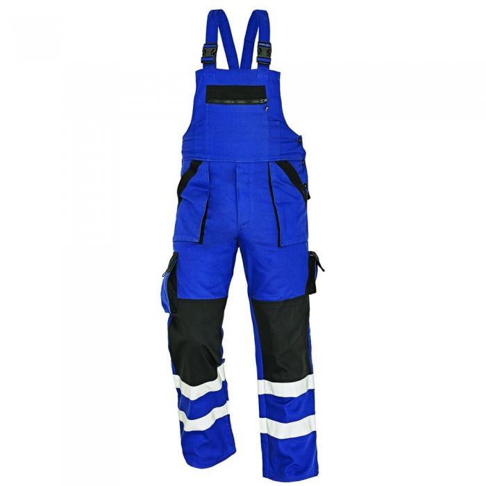 Pantaloni cu pieptar cu benzi reflectorizante Cerva MAX REFLEX, 100% bumbac, 240gr/mp 0