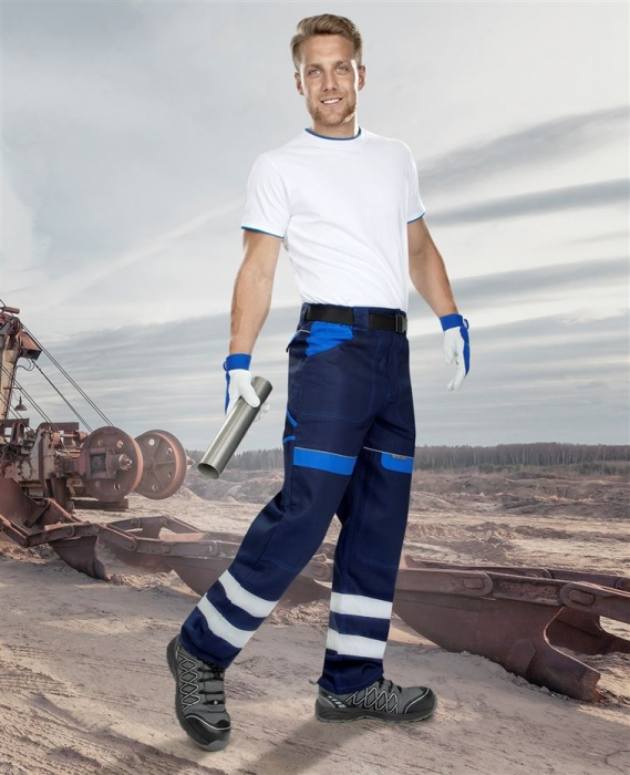 Pantaloni de lucru cu benzi reflectorizante Ardon COOL TREND REFLEX, 100% bumbac, 260gr/mp 1