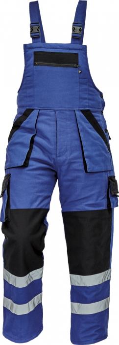 Pantaloni cu pieptar cu benzi reflectorizante Cerva MAX WINTER REFLEX 100 % bumbac [0]