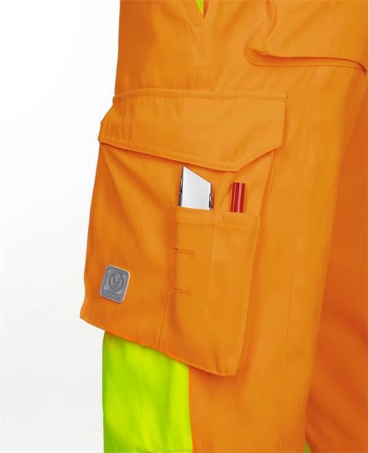 Pantaloni cu pieptar reflectorizanti Ardon SIGNAL, 65% poliester - 35% bumbac, 290gr/mp 4