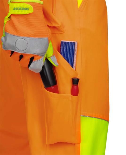 Pantaloni cu pieptar reflectorizanti Ardon SIGNAL, 65% poliester - 35% bumbac, 290gr/mp 5