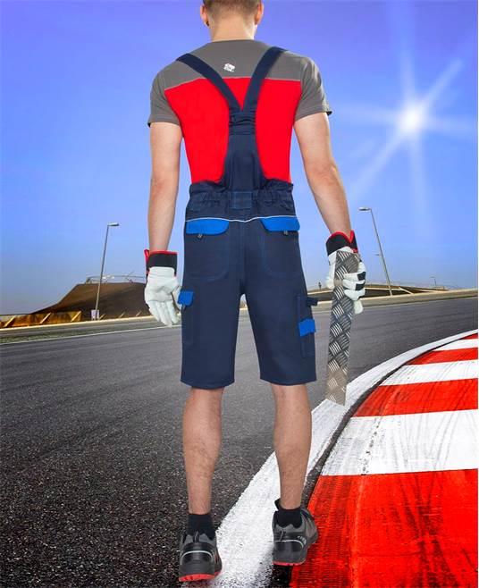 Pantaloni cu pieptar scurti de lucru Ardon COOL TREND, 100% bumbac, 260gr/mp 2