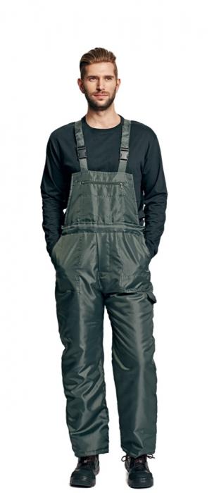 Pantaloni cu pieptar vatuiti de iarna Cerva TITAN, 100% poliester [1]