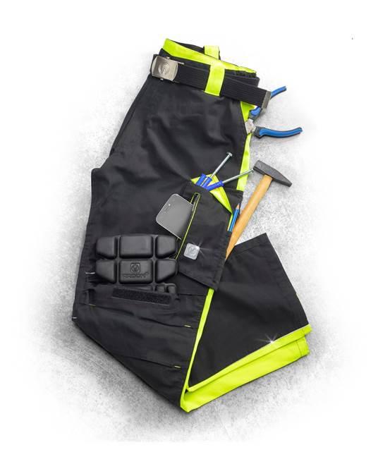 Pantaloni de lucru Ardon NEON, 65% poliester - 35% bumbac, 270gr/mp 3