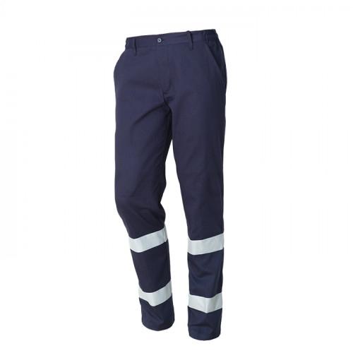 Pantaloni de lucru cu benzi reflectorizante Renania ROAD, 100% bumbac, 260gr/mp 0