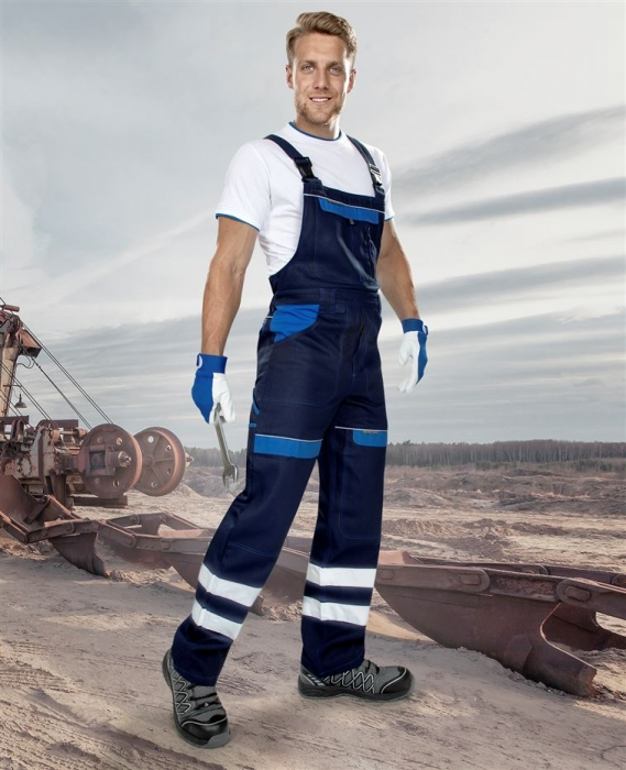 Pantaloni salopeta cu pieptar cu benzi reflectorizante Ardon COOL TREND, 100% bumbac, 260 gr/mp [1]