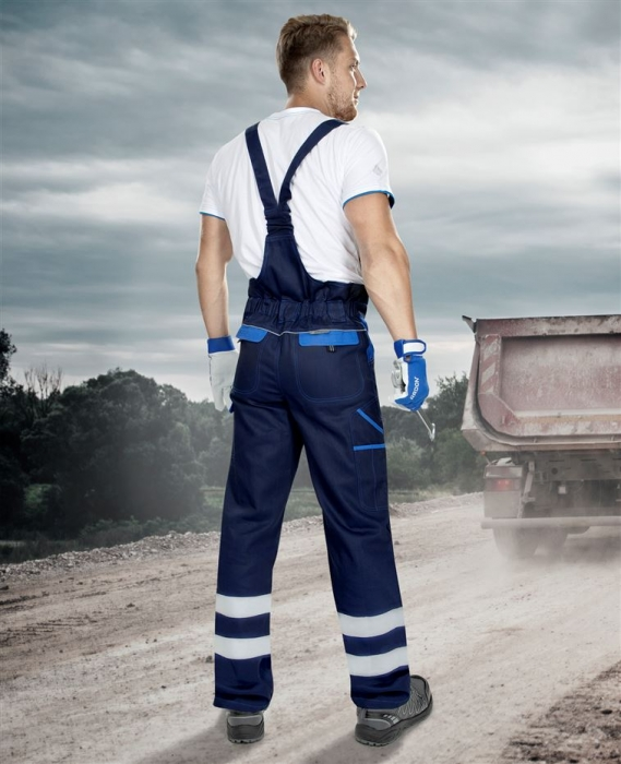Pantaloni salopeta cu pieptar cu benzi reflectorizante Ardon COOL TREND, 100% bumbac, 260 gr/mp [2]