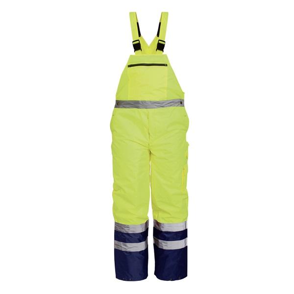 Pantaloni reflectorizanti cu pieptar de iarna Renania DENMARK, 100% PES Oxford, 180gr/mp [0]