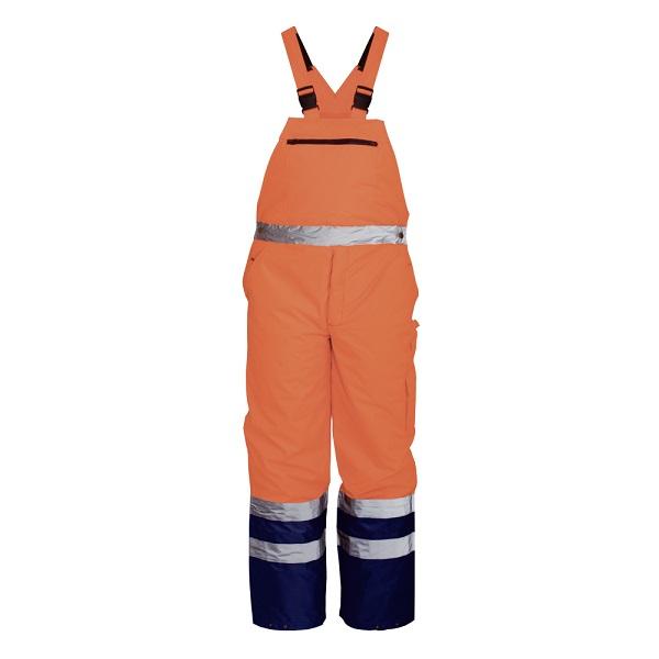 Pantaloni reflectorizanti cu pieptar de iarna Renania NORWAY, 100% PES Oxford, 180gr/mp [0]