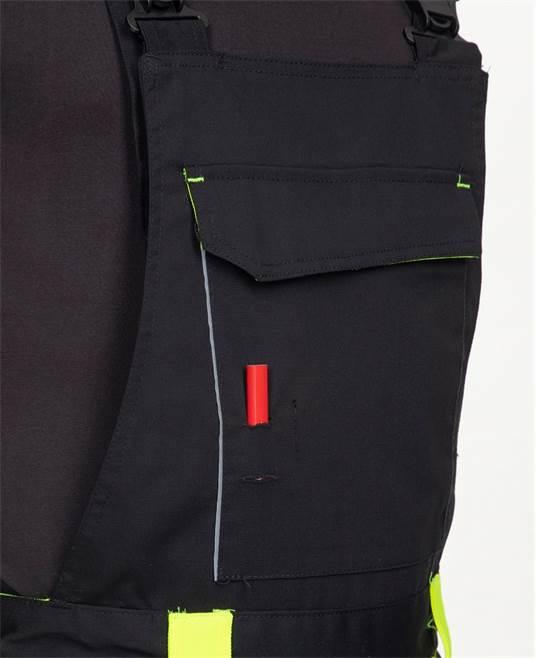 Pantaloni salopeta cu pieptar Ardon NEON, 65% poliester - 35% bumbac, 270 gr/mp 5
