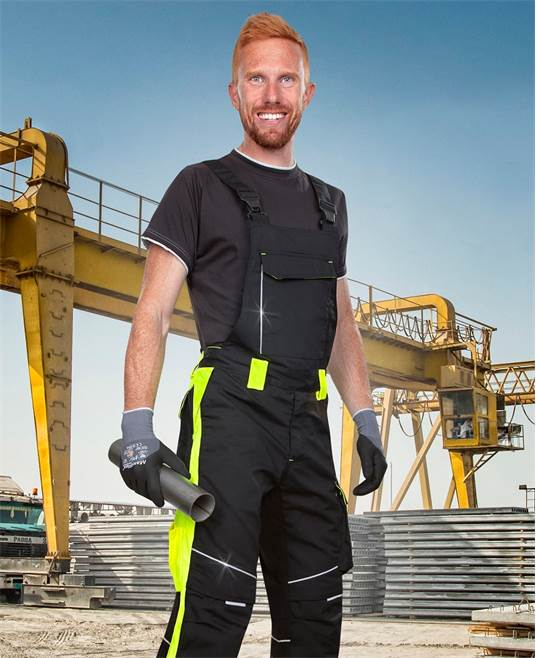 Pantaloni salopeta cu pieptar Ardon NEON, 65% poliester - 35% bumbac, 270 gr/mp 1