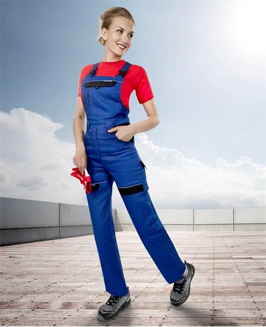 Pantaloni salopeta cu pieptar dama Ardon COOL TREND, 100%bumbac, 260gr/mp 2