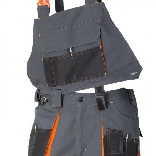 Pantaloni salopeta cu pieptar detasabil Renania RICHARD, tercot 65/35, 280gr/mp [2]