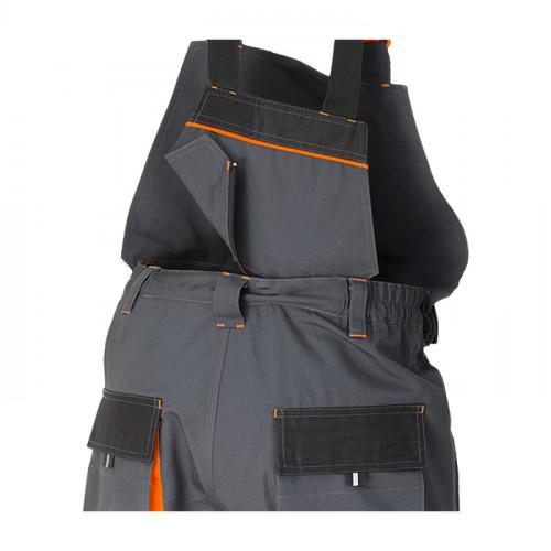 Pantaloni salopeta cu pieptar detasabil Renania RICHARD, tercot 65/35, 280gr/mp [1]