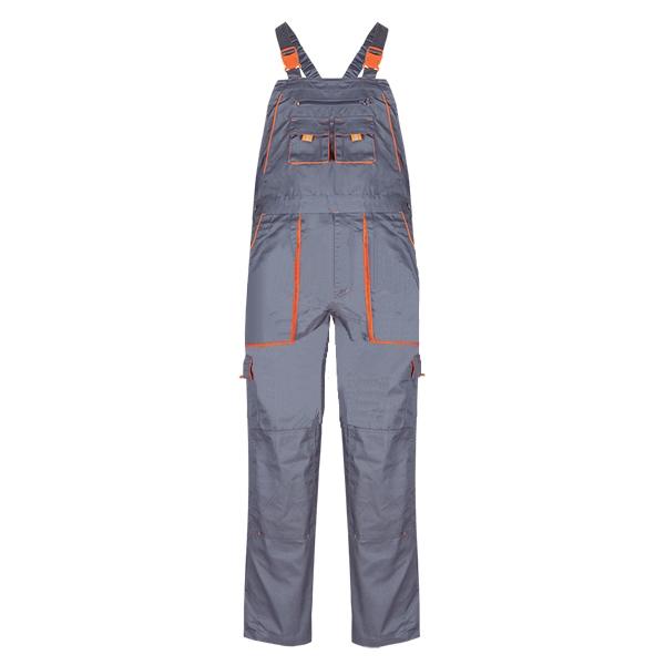 Pantaloni salopeta cu pieptar Renania SAMOA, tercot 65/35, 235gr/mp [0]