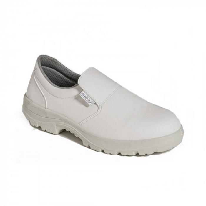 Pantofi de protectie Bicap WHITE S2 SRC, cu bombeu compozit, microfibra 0