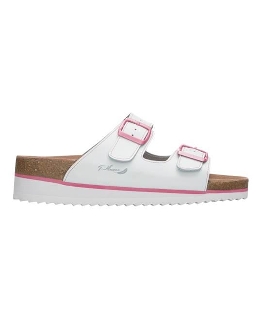 Papuci dama cu talpa din pluta Ardon JUNO WHITE 0