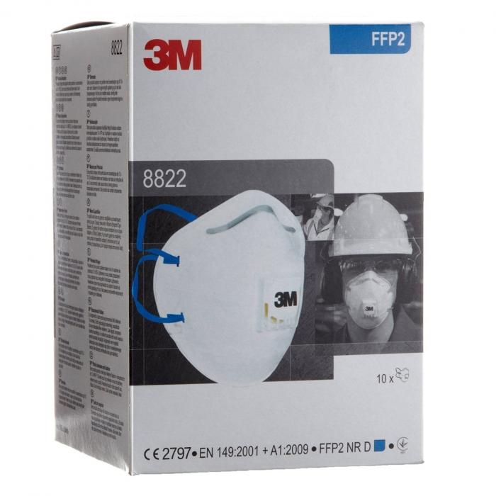 Semimasca cu supapa FFP2 3M 8822 [2]