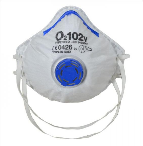 Semimasca de protectie cu supapa FFP2 BLS 102V, tip cupa 0