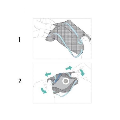 Semimasca de protectie cu supapa FFP2 BLS 829B, pliata 2
