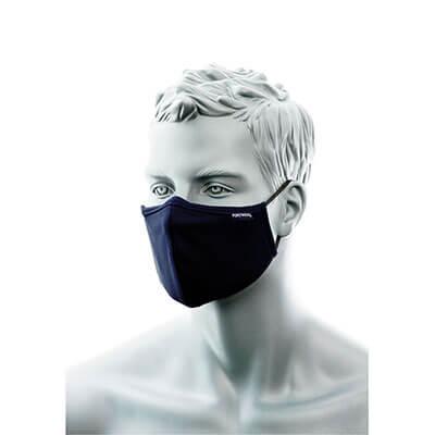 Semimasca faciala din tesatura anti-microbiana cu 2 straturi Portwest CV34, cu banda pentru nas [0]