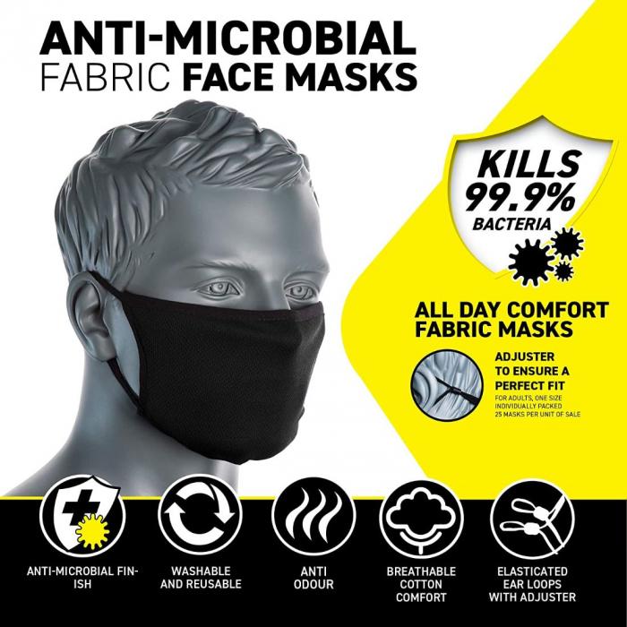 Semimasca faciala din tesatura anti-microbiana cu 3 straturi Portwest CV33 1