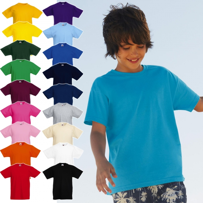 Tricou clasic copii Fruit of the Loom FOL VALUEWEIGHT, 100% bumbac, 165gr/mp 2