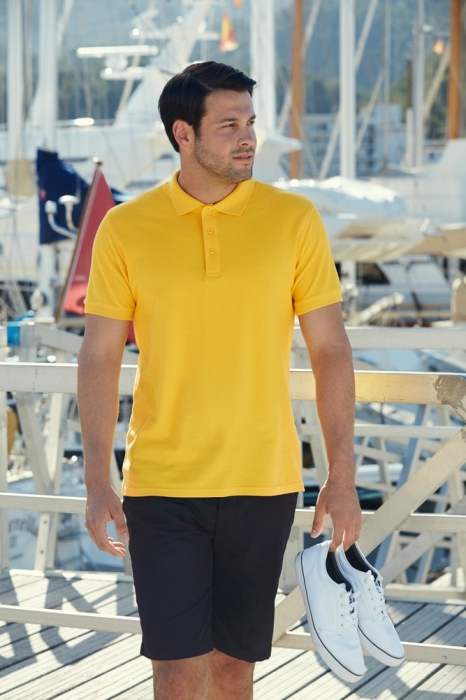 Tricou polo Fruit of the Loom FOL PREMIUM, 100% bumbac, 180gr/mp 1