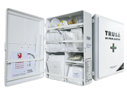 Trusa sanitara de prim ajutor fixa | prindere perete 1