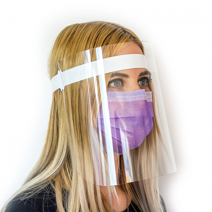 Viziera de protectie VIZIO ergonomica, dezinfectabila 0