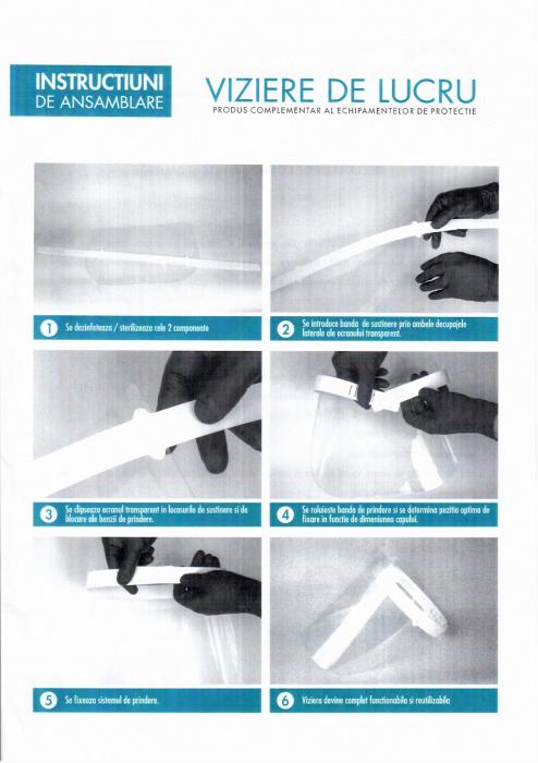 Viziera de protectie VIZIO ergonomica, dezinfectabila 2
