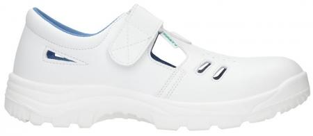 Sandale albe de protectie microfibra Ardon VOG S1, cu bombeu metalic0