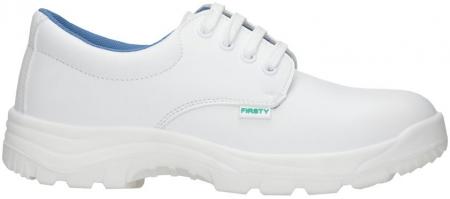 Pantofi albi de protectie microfibra Ardon FINN S2, cu bombeu metalic0