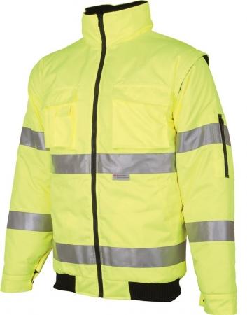Jacheta reflectorizanta vatuita de iarna Ardon HOWARD 2IN1, 100% poliester acoperit cu poliuretan, cu maneci detasabile0