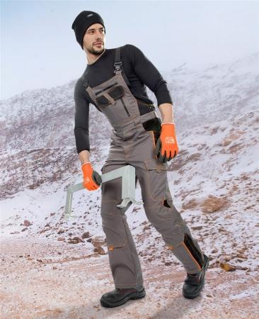 Pantaloni cu pieptar vatuiti de iarna Ardon VISION, tercot 60/40, 260 gr/mp1